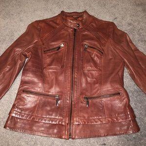 Authentic leather jacket- petite medium